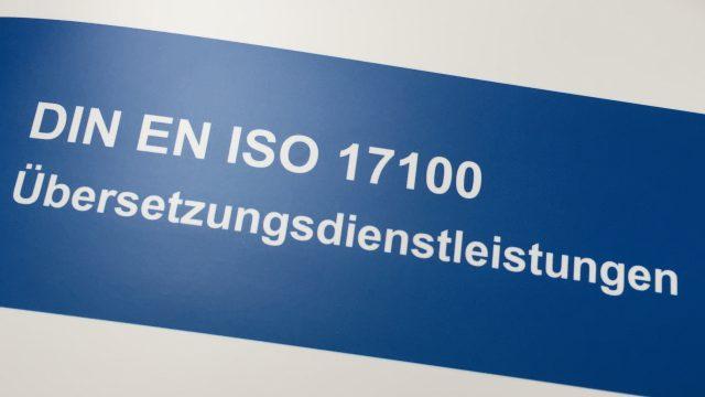 Ab jetzt sind wir auch ISO 17100 zertifiziert